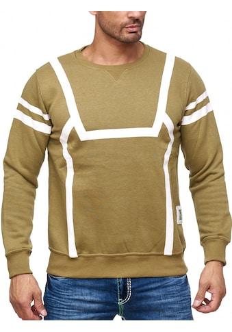 Rusty Neal Sweatshirt mit markantem Streifen-Muster kaufen