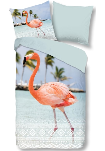 good morning Wendebettwäsche »Goodlife«, mit Flamingo kaufen
