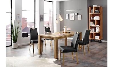 Home affaire Essgruppe »Nils 9«, (Set, 5 St., Tisch 180/90 cm, 4 Polster-Stühle), aus... kaufen