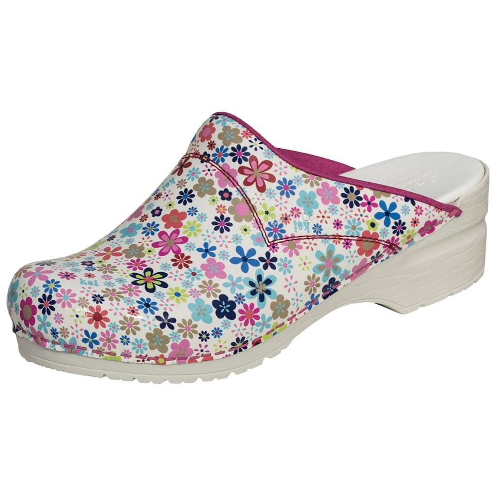Clog »101140314-13«, Sanita Clog pink Flower SRC