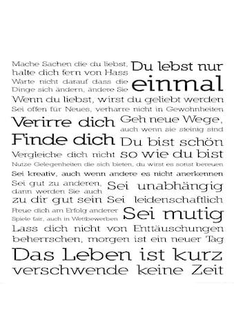 Home affaire Deco-Panel »Du lebst nur ein«, 50/50cm kaufen