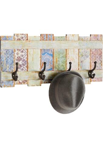 Home affaire Hakenleiste »Pastell«, Garderobe mit 4 Kleiderhaken, Pastell-Farben,... kaufen
