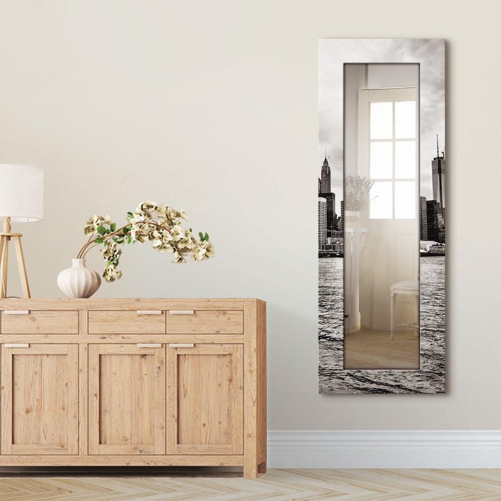 Artland Wandspiegel »Lower Manhattan Skyline«, gerahmter Ganzkörperspiegel mit Motivrahmen, geeignet für kleinen, schmalen Flur, Flurspiegel, Mirror Spiegel gerahmt zum Aufhängen