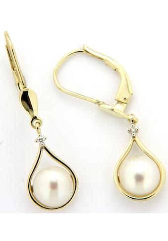 Firetti Paar Ohrhänger »in Tropfenform«, mit Süßwasserzuchtperlen und Brillanten kaufen