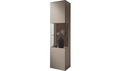 GWINNER Glasvitrine »Misano Z11«, in Lack fango, Höhe 196,8 cm, wahlweise mit Beleuchtung kaufen