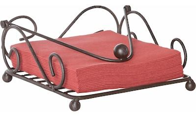 Home affaire Serviettenhalter, antikbraun 18 cm kaufen