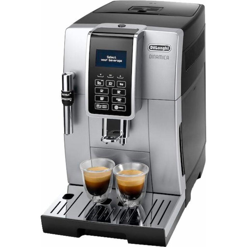 De'Longhi Kaffeevollautomat Dinamica ECAM 350.35.SB, 1,8l Tank, Kegelmahlwerk