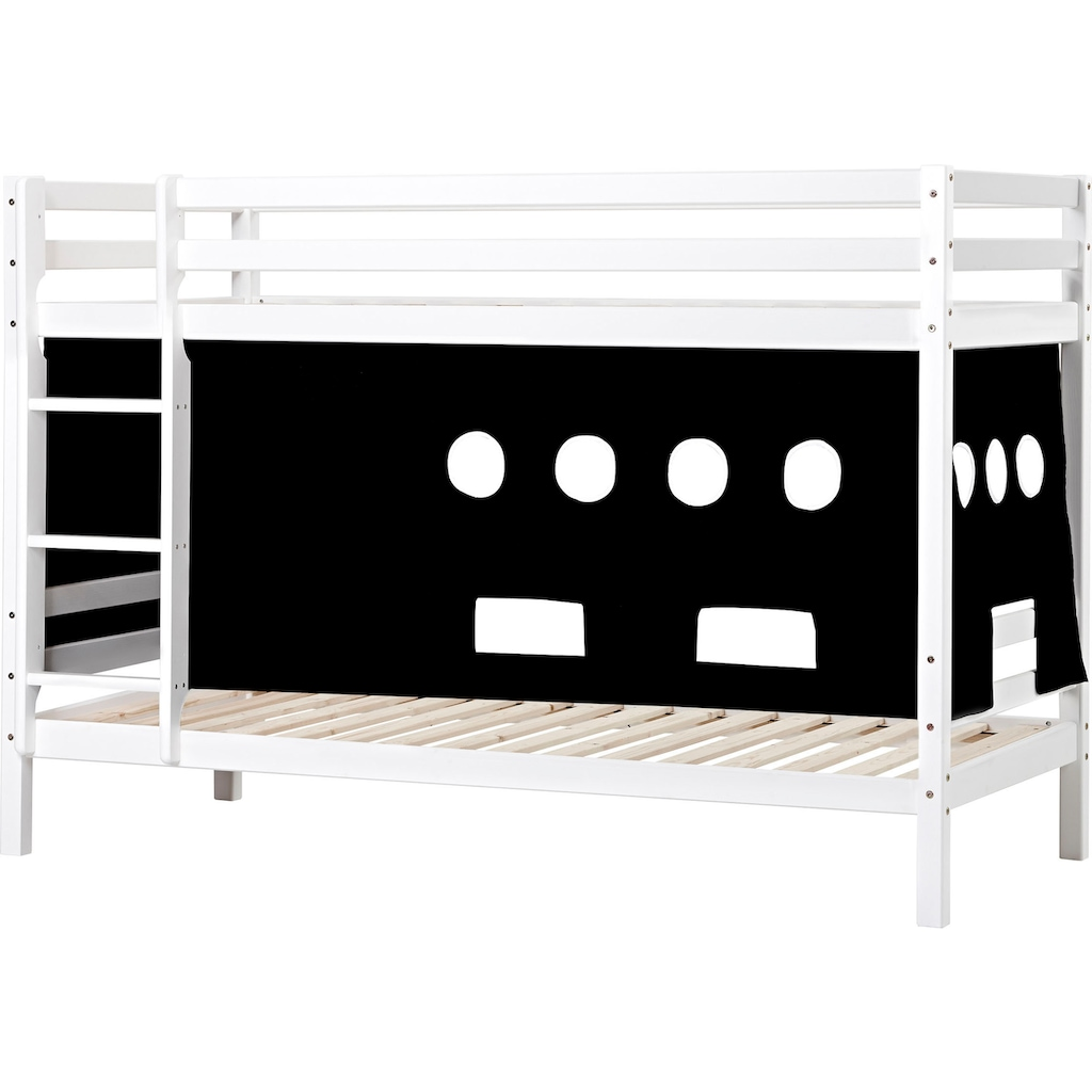 Hoppekids Etagenbett, Liegefläche 90x200 cm, mit Textilset und wahlweise mit Matratze