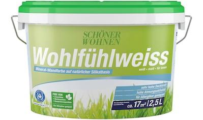 SCHÖNER WOHNEN-Kollektion Wand- und Deckenfarbe »Wohlfühlweiss«, matt kaufen