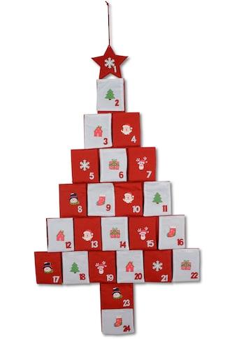 befüllbarer Adventskalender »Baum«, mit Holzornamenten kaufen