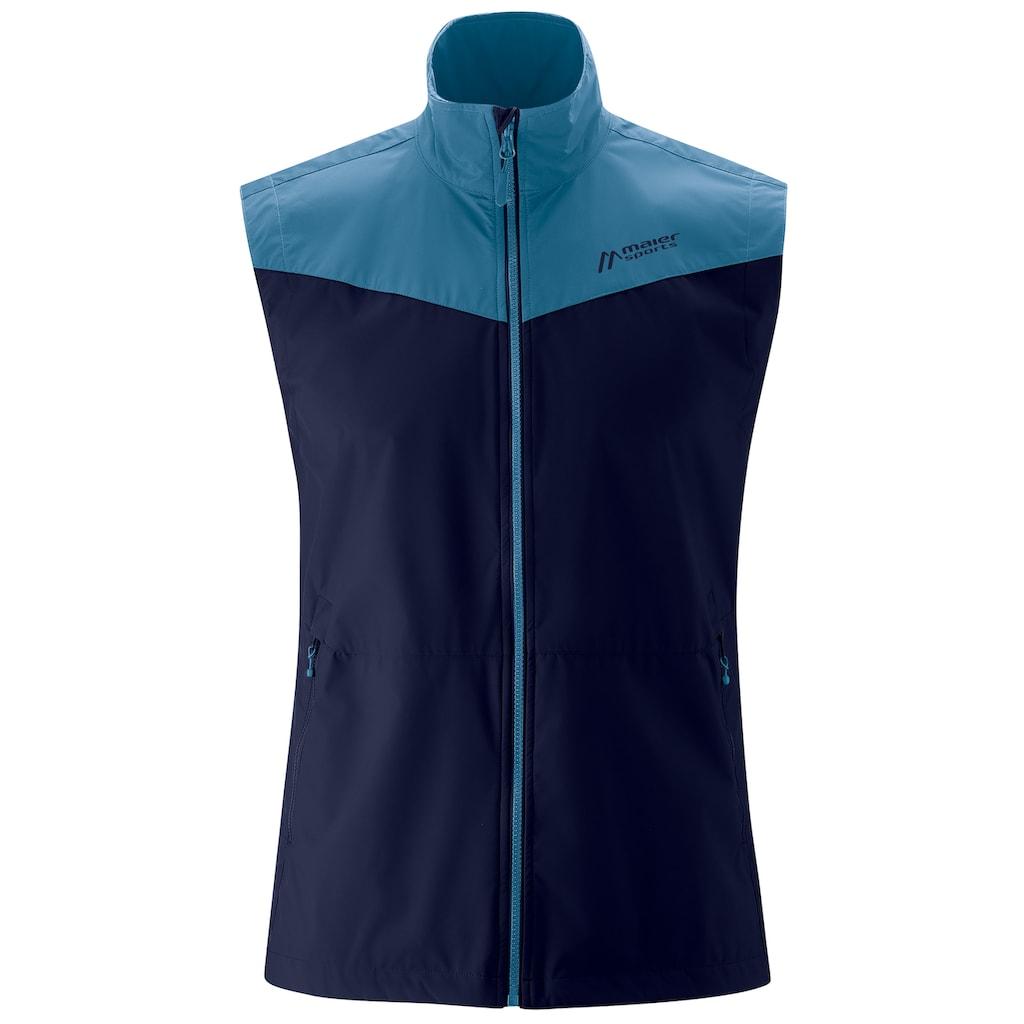 Maier Sports Softshelljacke »Skanden Vest M«, Leichte, sommerliche Softshellweste für Outdoor-Aktivitäten