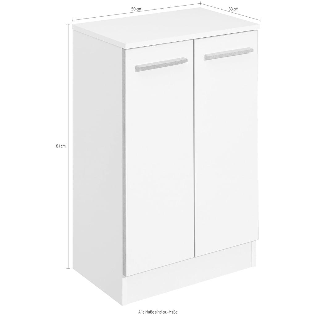 PELIPAL Unterschrank »Quickset 953«, Breite 50 cm, Badschrank mit Sockel, Schubkasten, Absetzung in Beton-Optik