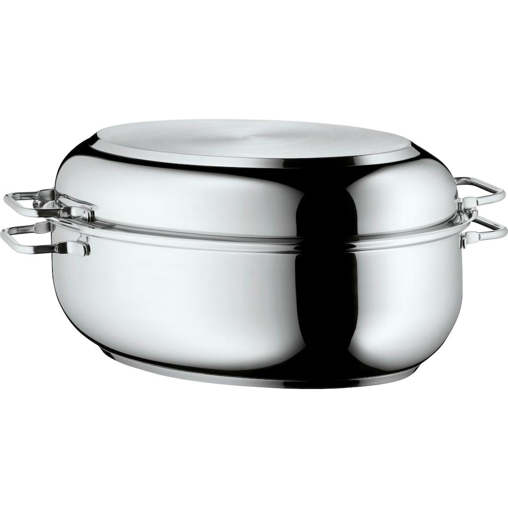 WMF Bräter, Cromargan® Edelstahl Rostfrei 18/10, (1 tlg.), Deckel als induktionsgeeignete Pfanne nutzbar, 8,5 Liter