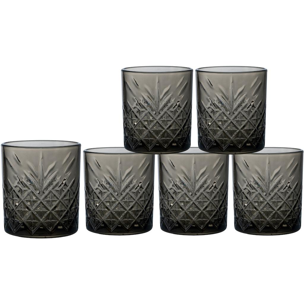Leonique Whiskyglas »Lelant«, (Set, 6 tlg.), durchgefärbtes Glas mit dekorativer Struktur, 340 ml, 6-teilig