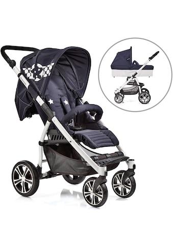 Gesslein Kombi-Kinderwagen »S4 Air+, Weiß/Blau & Babywanne C3 Stars Blau« kaufen