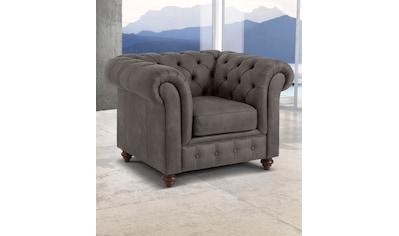 Premium collection by Home affaire Sessel »Chesterfield«, mit Knopfheftung, auch in Leder kaufen