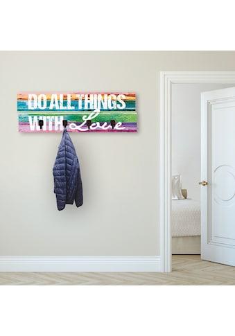 Artland Garderobenpaneel »Tu alles mit Liebe«, platzsparende Wandgarderobe aus Holz... kaufen