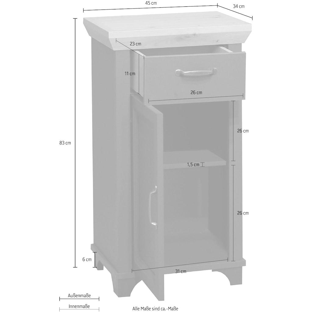 Mäusbacher Unterschrank »Mali«, Landhausstil, Breite 45 cm, Höhe 83 cm, Metallgriffe