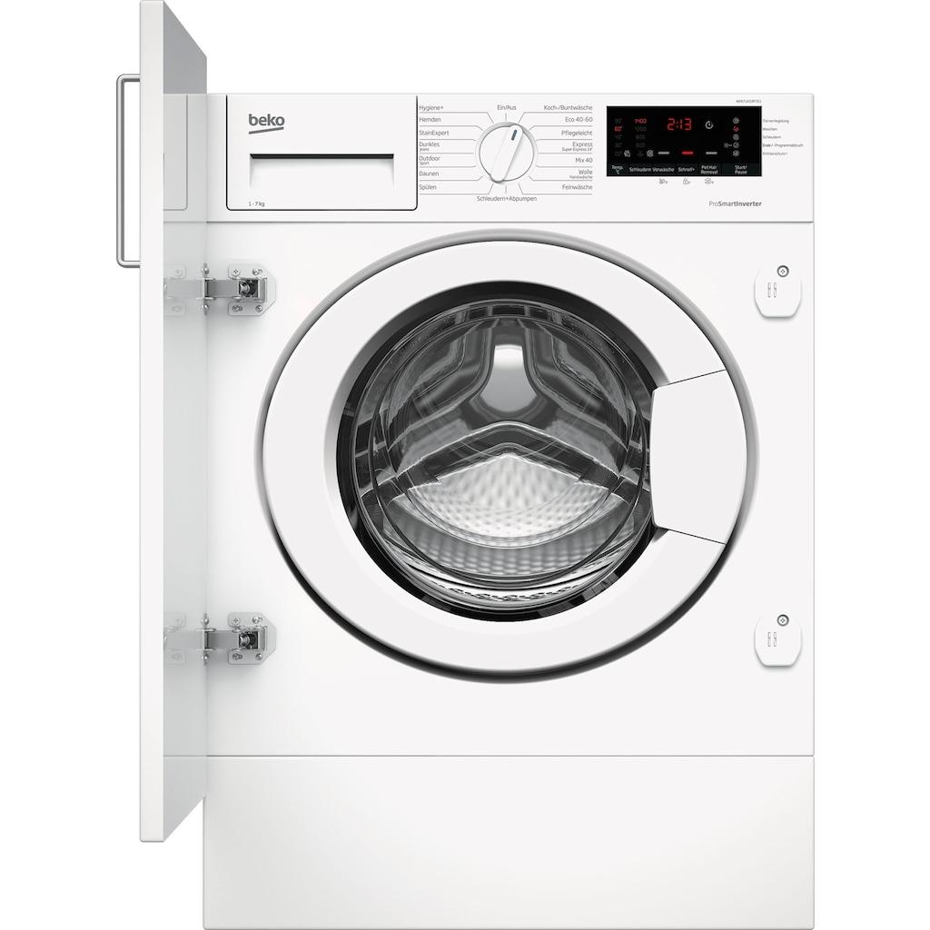 BEKO Einbauwaschmaschine »WMI71433PTE1«, WMI71433PTE1, 7 kg, 1400 U/min