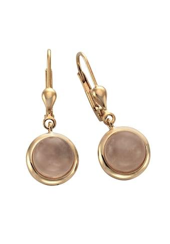 Zeeme Paar Ohrhänger »925/- Sterling Silber Rosenquarz«, rotvergoldet kaufen