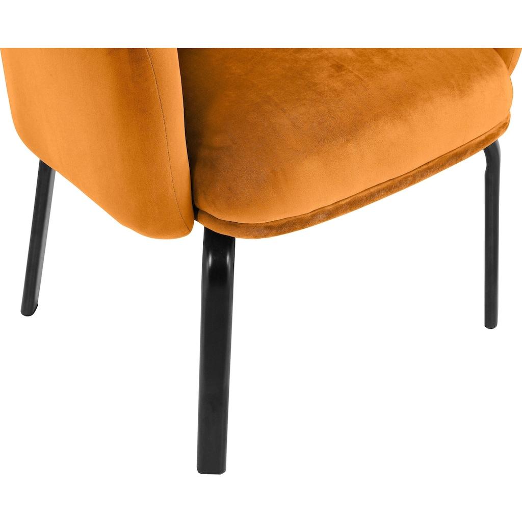 andas Esszimmerstuhl »Maribo«, 2er Set, aus einem schönen, weichen Samtvelours Bezug, Design by Morten Georgsen