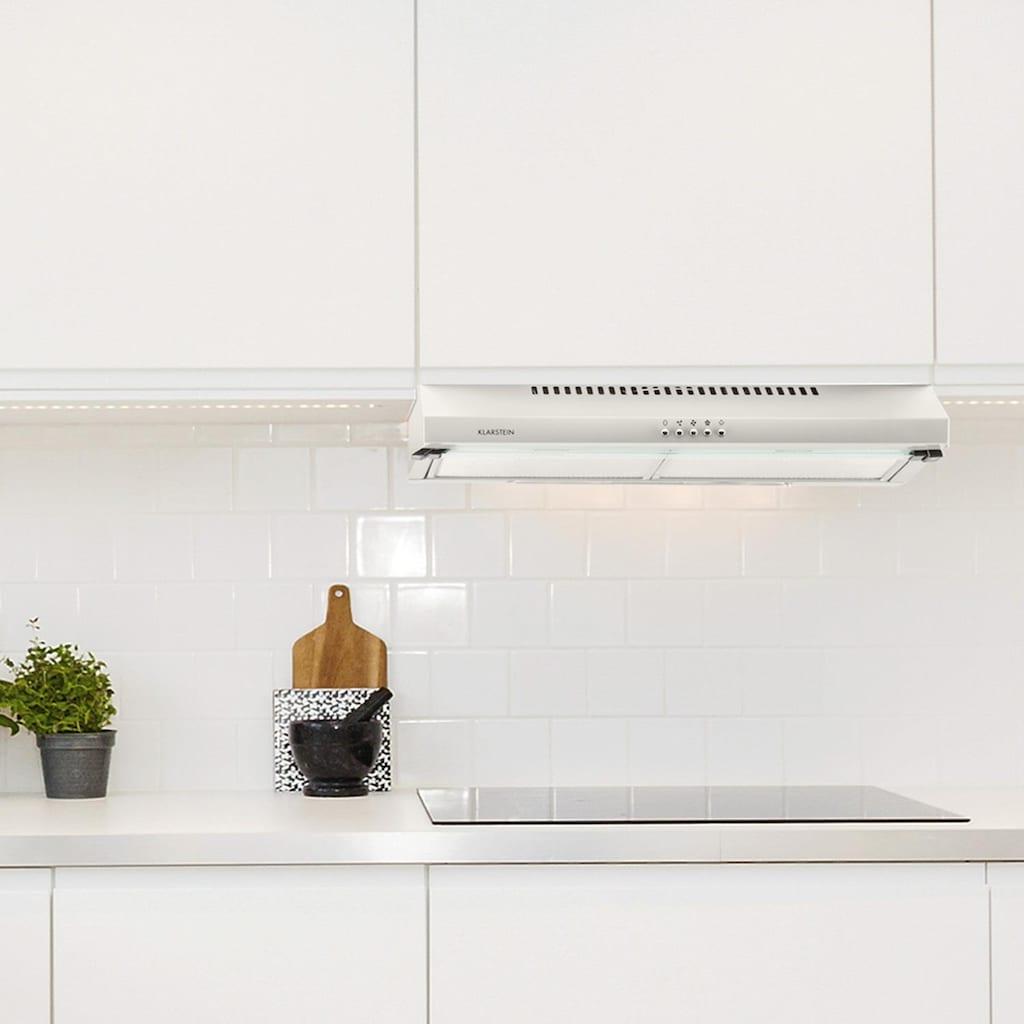 Klarstein Unterbau-Dunstabzugshaube 60cm Metall Glas Abluft-Umluftbetrieb