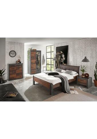 Home affaire Schlafzimmer-Set »BROOKLYN«, (Set, Einzelbett mit Polsterkopfteil,... kaufen