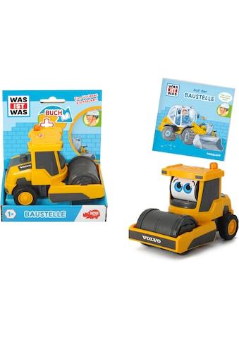 Dickie Toys Spielzeug-Walze »Was ist Was - Baustelle«, inkl. Buch kaufen