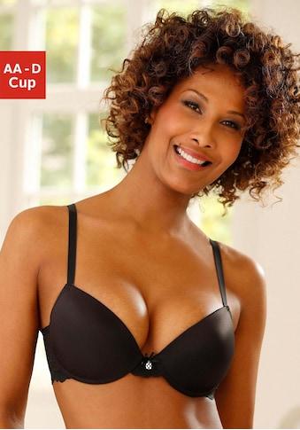 LASCANA Push-up-BH »»perfect basic««, mit Bügel und Spitzenrücken kaufen