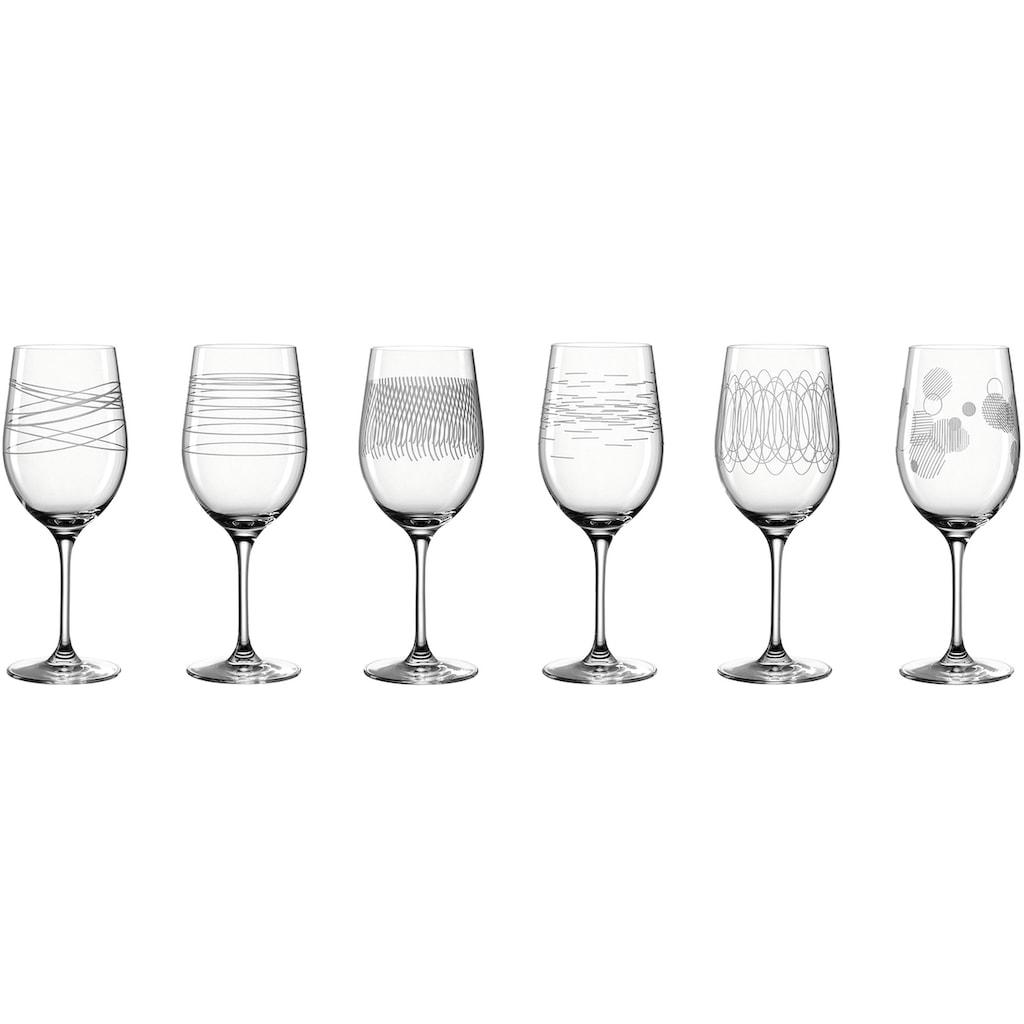 LEONARDO Rotweinglas »Casella«, (Set, 6 tlg.), 430 ml, 6-teilig