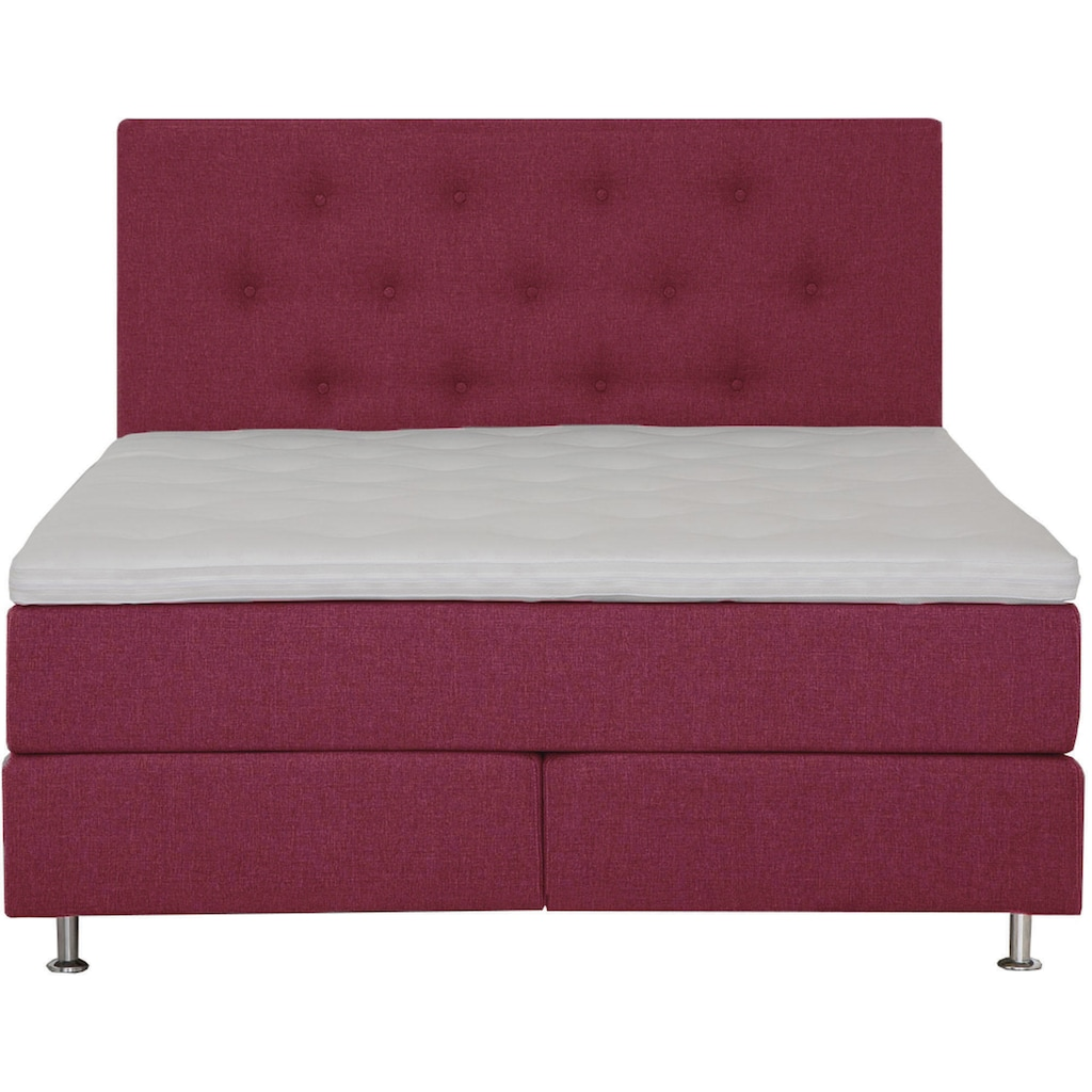 Places of Style Boxspringbett »Nordica«, inkl. Topper, auch in Überlänge 200/220 cm