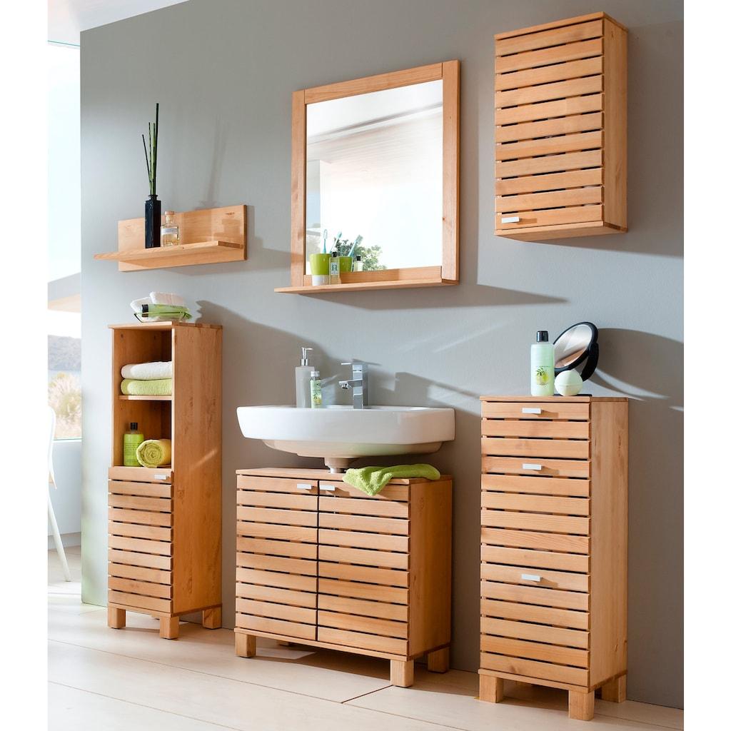 welltime Waschbeckenunterschrank »Amrum«, Breite 60 cm, aus Massivholz