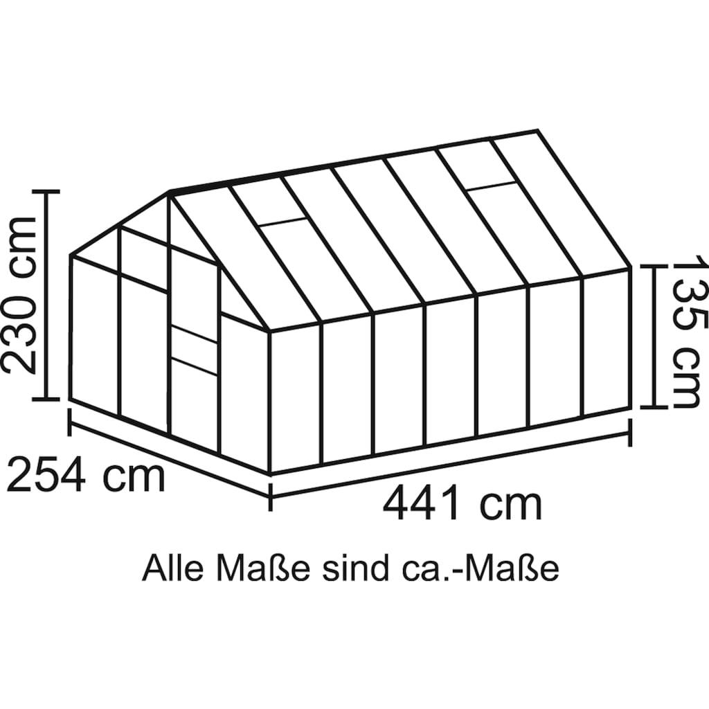 Vitavia Gewächshaus »Merkur 11500«, (Set, mit Fundamentrahmen)
