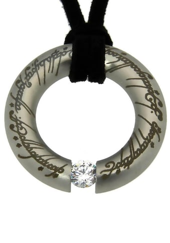 Der Herr der Ringe Kette mit Anhänger »Der Eine Ring Anhänger mit elbische Runen, 20002149« kaufen