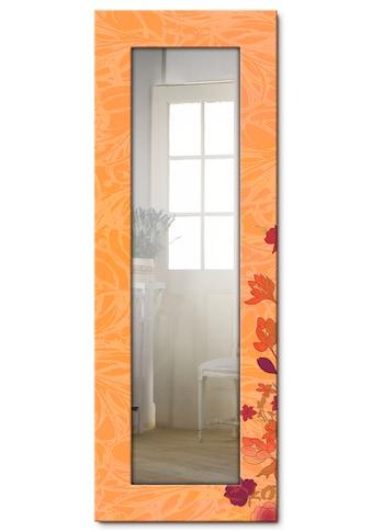 Artland Wandspiegel »Blumen orange«, gerahmter Ganzkörperspiegel mit Motivrahmen,... kaufen