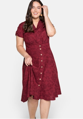 sheego by Joe Browns Shirtkleid, mit tonigem Blumendruck, in A-Linie kaufen