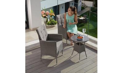 KONIFERA Gartenmöbelset »Mailand«, (7 tlg.), 2 Sessel, Tisch Ø 50 cm, Polyrattan kaufen