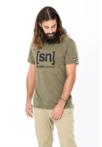 SUPER.NATURAL T-Shirt »M LOGO TEE«, feinster Merino-Materialmix kaufen