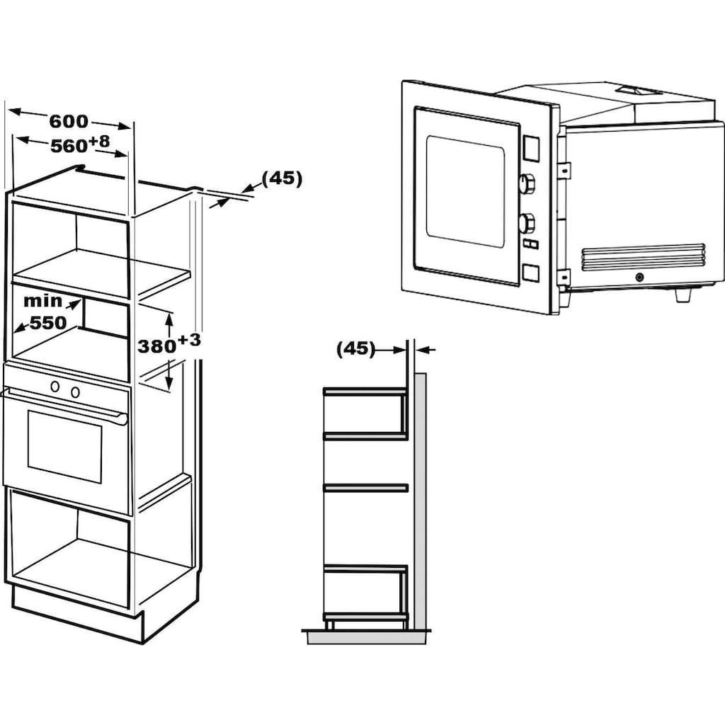 Privileg Einbau-Mikrowelle »TC034B2US0EE«, Heißluft, 1000 W