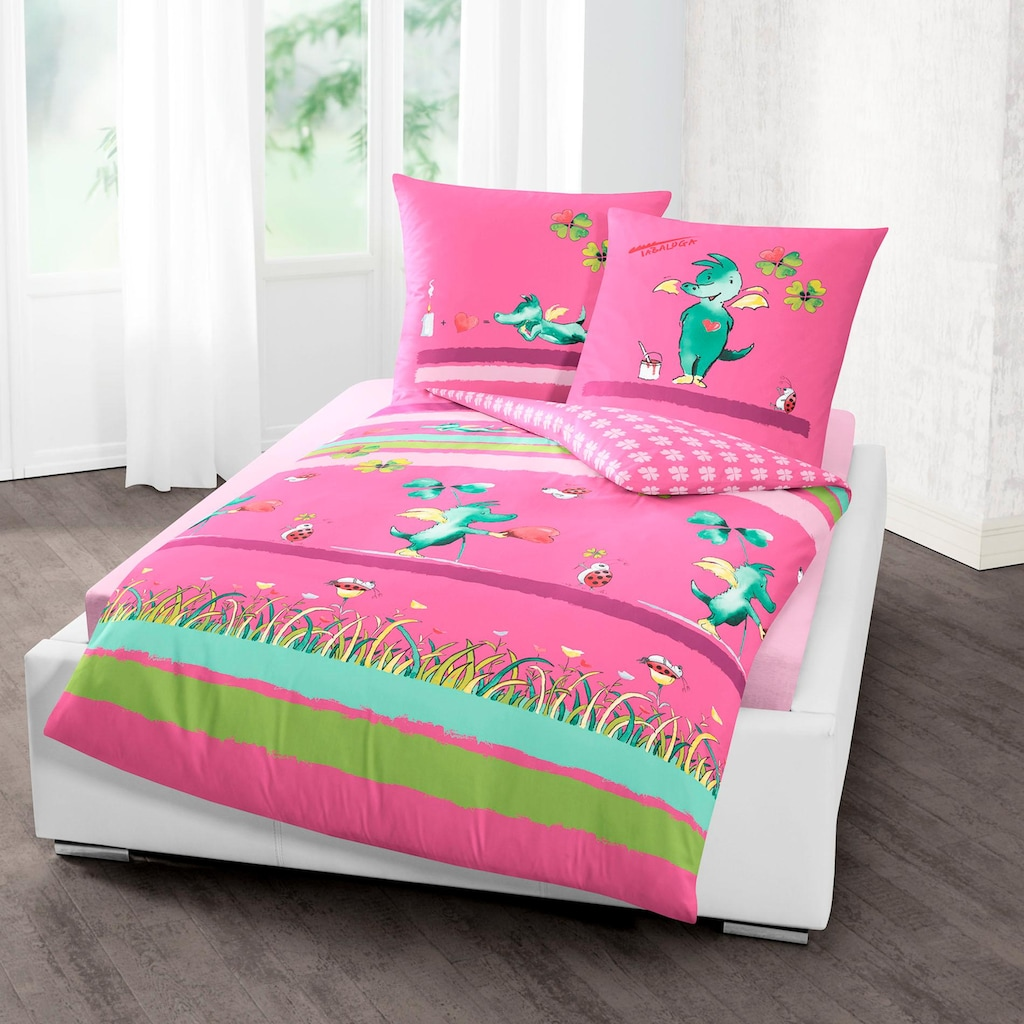 TABALUGA Kinderbettwäsche »Kleeblatt«, mit Tabaluga