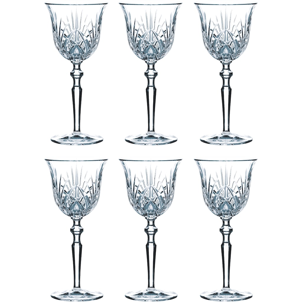 Guido Maria Kretschmer Home&Living Weißweinglas »Palais«, (Set, 6 tlg.), Guidos Favorit, 180 ml, 6-teilig