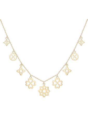 CAÏ Silberkette »925 Silber vergoldet Anhänger«, Collier kaufen