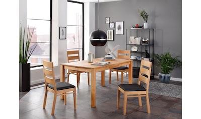Home affaire Essgruppe »Soeren 3«, (Set, 5 St., Tisch 160/90 cm, 4 Stühle,... kaufen