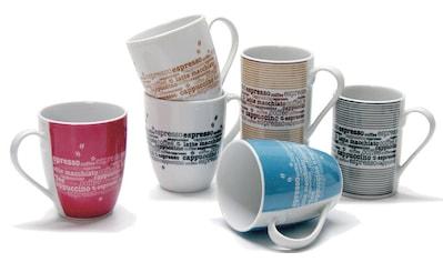 Retsch Arzberg Becher »Kaffee«, (6 tlg.), 6-teilig kaufen