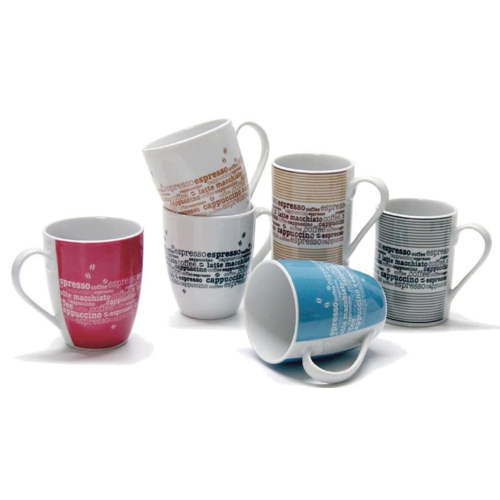 Retsch Arzberg Becher »Kaffee«, (6 tlg.), 6-teilig