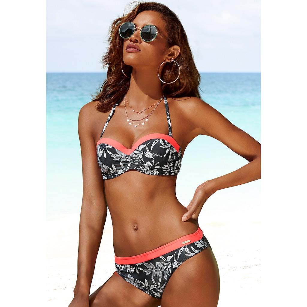 Sunseeker Bügel-Bandeau-Bikini-Top »Mono«, mit kontrastfarbenem Einsatz