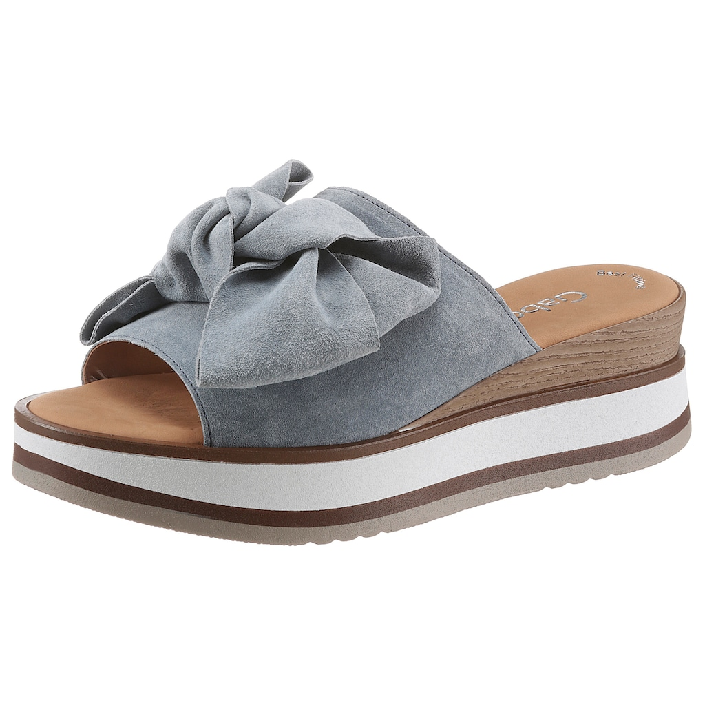 Gabor Pantolette, mit schöner Zierschleife