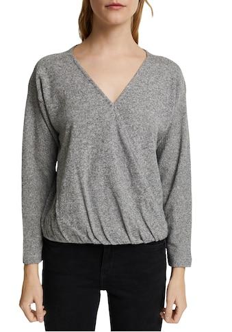 Esprit Sweatshirt, in Wickel-Optik kaufen
