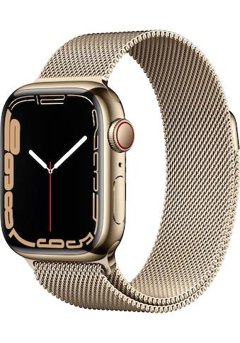 Apple Smartwatch »Series 7, GPS + Cellular, Aluminium-Gehäuse, 41mm«, (Watch OS 8) kaufen