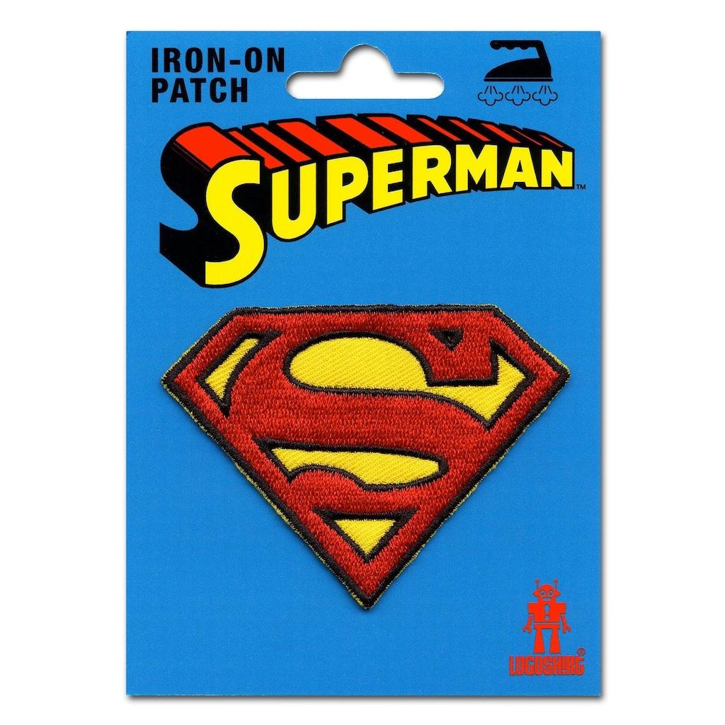 LOGOSHIRT Aufnäher mit Superman-Logo